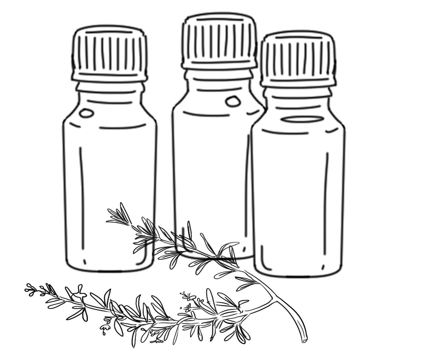 huiles essentielles en flacon