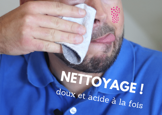 homme nettoyage acné