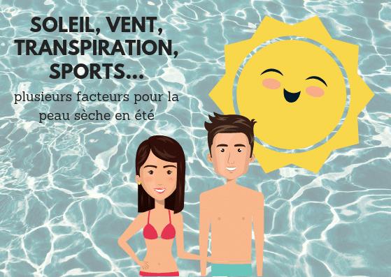 facteurs de la peau sèche en été